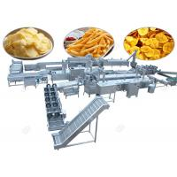 China Commercial Potato Chips Manufacturing Machine Frozen French Fries With Flow Production for sale