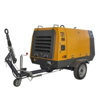 Mining 37KW Diesel Screw Air Compressor / Industrial Air Compressors Air Cooling for sale