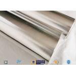 7/14/18μ Heat Sealing Aluminium Foil Backed Fiberglass Fabric Satin Weave for sale