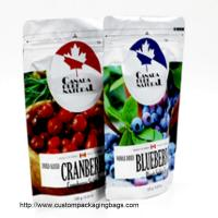 NOQ200pcs hot sale nice quality customized logo snack stand up colorful for blueberry for sale