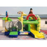 China Safari World Jungle elephant Inflatable Bouncy Castle for kids Outdoor N Indoor Playground Fun for sale