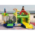 Safari World Jungle elephant Inflatable Bouncy Castle for kids Outdoor N Indoor Playground Fun for sale