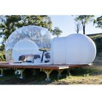 Commercial Inflatable Bubble Sphere Tent with Two Room one Tunnel for Sale for sale