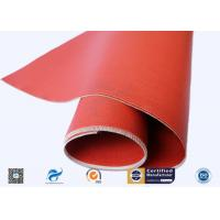 China Red Silicone Coated Polyester Fabric Fire Barrier For Heat Resistant Insulation supplier