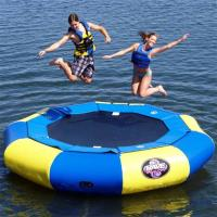 China Blue and yellow Large Inflatable Water Sports , Aquapark Platinum Rebound Bouncer factory
