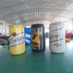 1.7m High PVC Sealed Printing Advertising Inflatables / Blow Up Can for sale