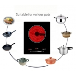 Simple Controls Touch Radiationless Single Burners Vitro Ceramic Hob