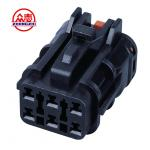 China Black Color Female Waterproof Automotive Wire Connectors 6 Pins With Lock for sale
