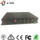 1 Channel RS485 Reverse Data 20km Single Mode 8 Channel SDI to Fiber Optic Converter for sale