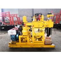 Rotary Hydraulic 200m Portable Soil Test Drilling Machine Yellow Color for sale