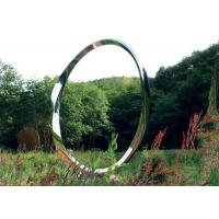 Contemporary Stainless Steel Art Sculptures , Ring Sculpture Polished Finish for sale