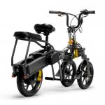 China Black Color Folding 3 Wheels Electric Road Scooter For Adults Street Legal for sale