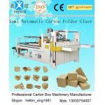 Siemens Electric Carton Making Machine of Semi-Auto Folder Gluer 4KW 5300mm Length for sale