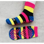 China Sweat Absorbent Bounce Trampoline Park Grip Socks Non Slip Socks Anti Slip Non Skid Socks for sale