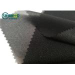 China White / Black Polyester Plain Weave Woven Fusing Interlining For Garment Accessories for sale