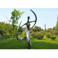 Polished Stainless Steel Abstract Outdoor Metal Sculpture for Garden for sale