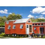 China EU Standard Pre-made Prefabricated Light Steel Structure Tiny House On Wheels With Trailer for sale