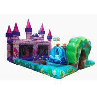 Commercial Inflatable Bounce House Combo Princess Castle Play Zone Customized Size for sale