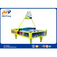 Indoor Playground Yellow Arcade Air Hockey Table 4 Players For Game Center for sale