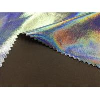 Dream Color Garment Leather Fabric , Lamination On Four Way Stretch Backing Fabric
