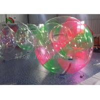 Red Green Clear Aqua Ball Inflatable Water Walking Ball for Kids , Adults for sale