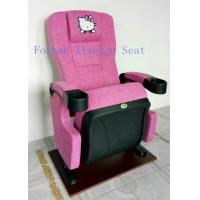 China Hello Kity Headrest Cinema Theatre Chair Iso Certification Pp Armrest  Flame Retardant Fabric for sale
