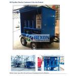 Dustproof Mobile Transformer Oil Purifier / Oil Filtration Unit ZYD-WM-150 for sale