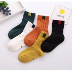 China Customized Logo Short Dress Socks , Eco Friendly Girls Cotton Dress Socks for sale