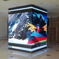Indoor  LED Display Cube Column P2.5 Module size 320mm*160mm  Pixel Density 160000 Right Angle Cabinets for sale