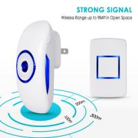 12V 23A Wireless Door Ring Bell With 1 Push Button Transmitter And 1plug In Ac Receiver for sale