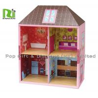 Two Layers Showing Corrugated Cardboard House Kids Play Hut Toy for sale