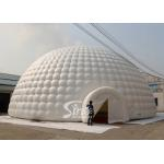 18m white giant inflatable igloo dome tent with 3 tunnel entrances for parties for sale
