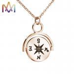 Hypoallergenic SS304 Vintage Compass Pendant Necklace