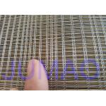 2000mm Width Glass Laminated Brass Woven Metal Wire Mesh Fabric For Art Design for sale
