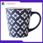 Gold Rim Personalized Silkscreen Coffee Mugs Portable Outdoor Travel Use for sale