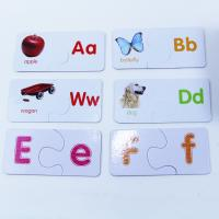 China 26pcs Alphabet Print Jigsaw Puzzle , Match And Learn Puzzle Matt Lamination for sale