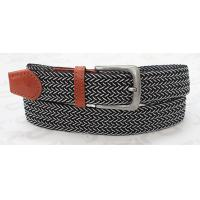 Old Silver Buckle Stretch Belts For Jeans , 3.45cm Muitiple Colors Elastic Stretch Belts for sale