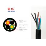 Outdoor Indoor 4 Core Multimode Fiber Optic Cable With Copper Wire Power Supply for sale