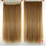 Long Silky straight Synthetic Hair Extensions Double Drawn Strong Hair Weaving