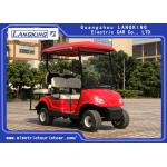China Four Wheel Electric Golf Carts With 2 Rear Seats Powered By 48Volt Free Maintenance Battery 8V*6PCS for sale
