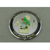 Zinc Alloy Personalized Coins , Diamond Cut Edge Army Coin Double Tones Plating for sale
