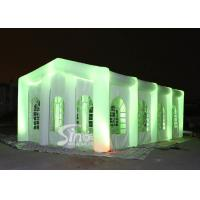 12x6m big blow up inflatable wedding party tent with LED light, movable doors N windows for sale