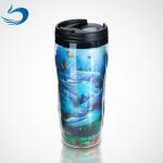 Promotional Custom Printing Plastic Cartoon Lenticular 3d Cup 300ml-1500ml Capacity for sale