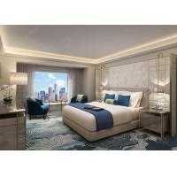 Custom Made Modern Hotel Bedroom Furniture Set With Fixed Furniture for sale