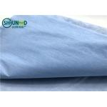 China One layer woodpulp nonwoven compound one layer polyester waterproof spunlace nonwoven fabric for hospital covering cloth for sale