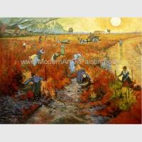 China Impressionism Hand Painted Van Gogh Reproductions Red Vineyards At Arles for sale