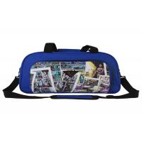 600D Polyester Cartoon Big Size Foldable Travel Bag , Travel Suit Bag For Man Woman for sale
