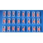 Acrylic Base Lead Letter Lead Tape / Magnetic Lead Markers ISO Approval for sale