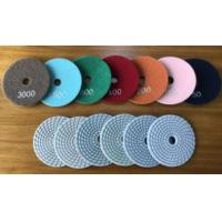 China 4inches wet polishing pads for granite for sale