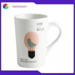 China Durable Promotional Ceramic Coffee Mugs Food Contact Safe 12 Oz With Decal manufacturer